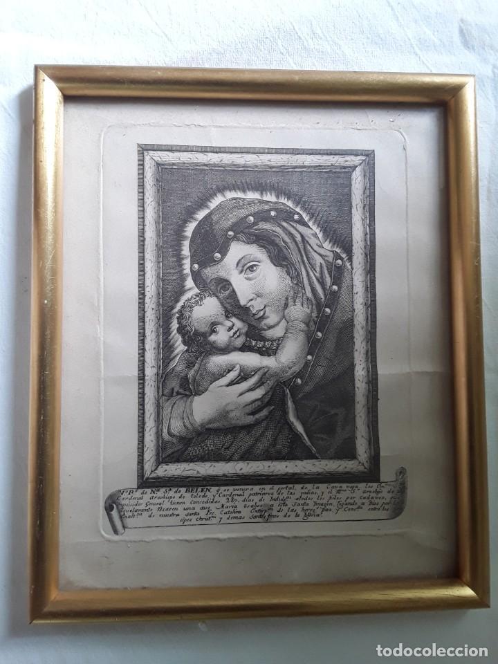 GRABADO SOBRE PAPEL DE NUESTRA SEÑORA DE BELEN (Arte - Arte Religioso - Grabados)