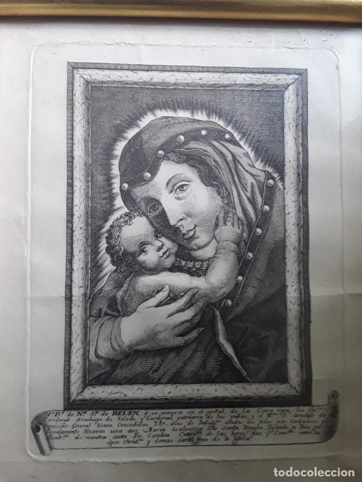 Arte: GRABADO SOBRE PAPEL DE NUESTRA SEÑORA DE BELEN - Foto 2 - 206305517