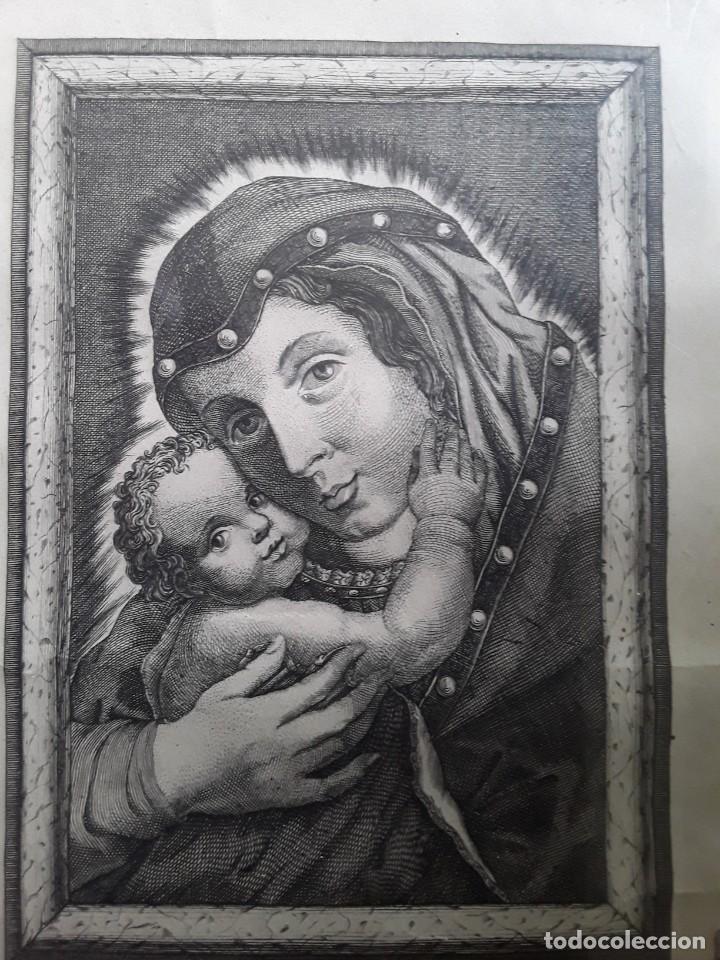 Arte: GRABADO SOBRE PAPEL DE NUESTRA SEÑORA DE BELEN - Foto 3 - 206305517
