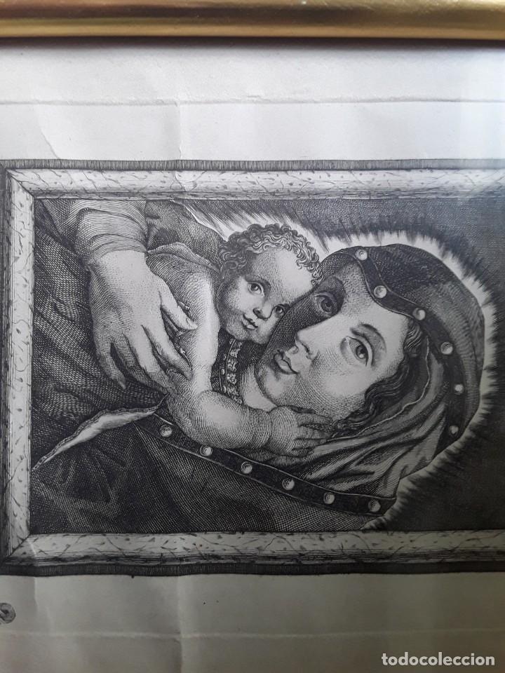 Arte: GRABADO SOBRE PAPEL DE NUESTRA SEÑORA DE BELEN - Foto 6 - 206305517