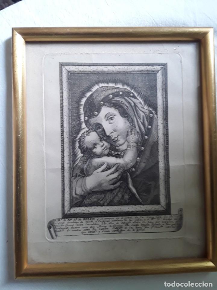 Arte: GRABADO SOBRE PAPEL DE NUESTRA SEÑORA DE BELEN - Foto 7 - 206305517