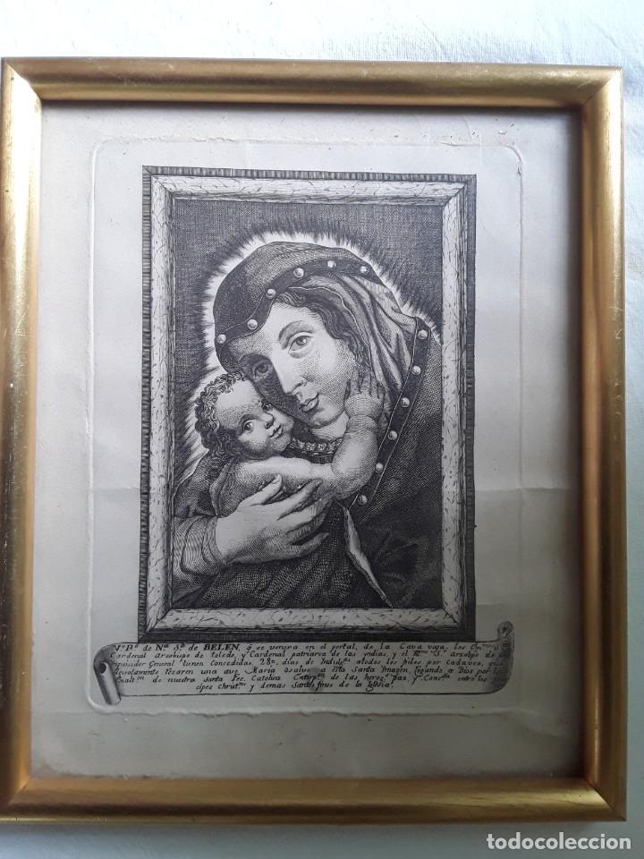 Arte: GRABADO SOBRE PAPEL DE NUESTRA SEÑORA DE BELEN - Foto 8 - 206305517