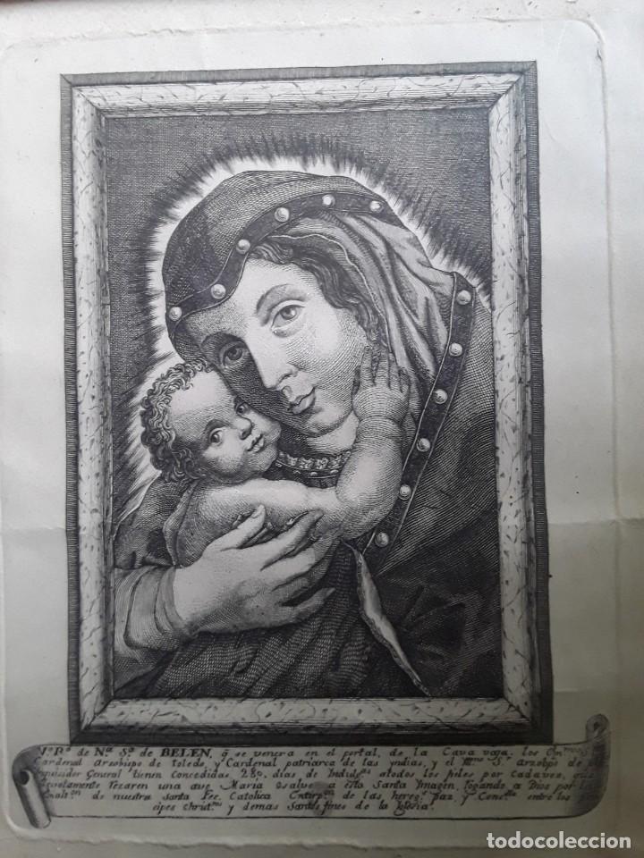 Arte: GRABADO SOBRE PAPEL DE NUESTRA SEÑORA DE BELEN - Foto 9 - 206305517