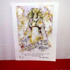 Arte: ILUSTRACIÓN COLLAGE DE LA VIRGEN DE LOS DESAMPARADOS ED.POR EL ARZOBISPADO DE VALENCIA.59 X 42 CM.. Lote 206409498