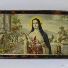 Arte: ANTIGUA LITOGRAFÍA RELIGIOSA SANTA TERESITA DEL NIÑO JESÚS. Lote 206467677