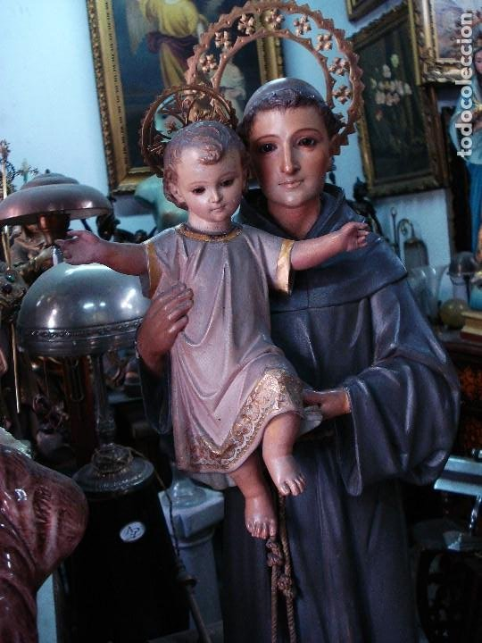 Arte: Excelente San Antonio de Padua con niño talla de madera policromada - Foto 3 - 206507613