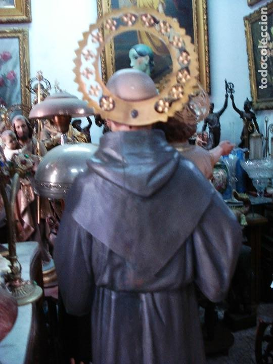 Arte: Excelente San Antonio de Padua con niño talla de madera policromada - Foto 6 - 206507613