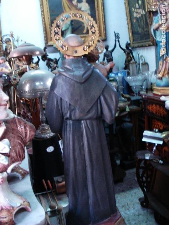 Arte: Excelente San Antonio de Padua con niño talla de madera policromada - Foto 7 - 206507613