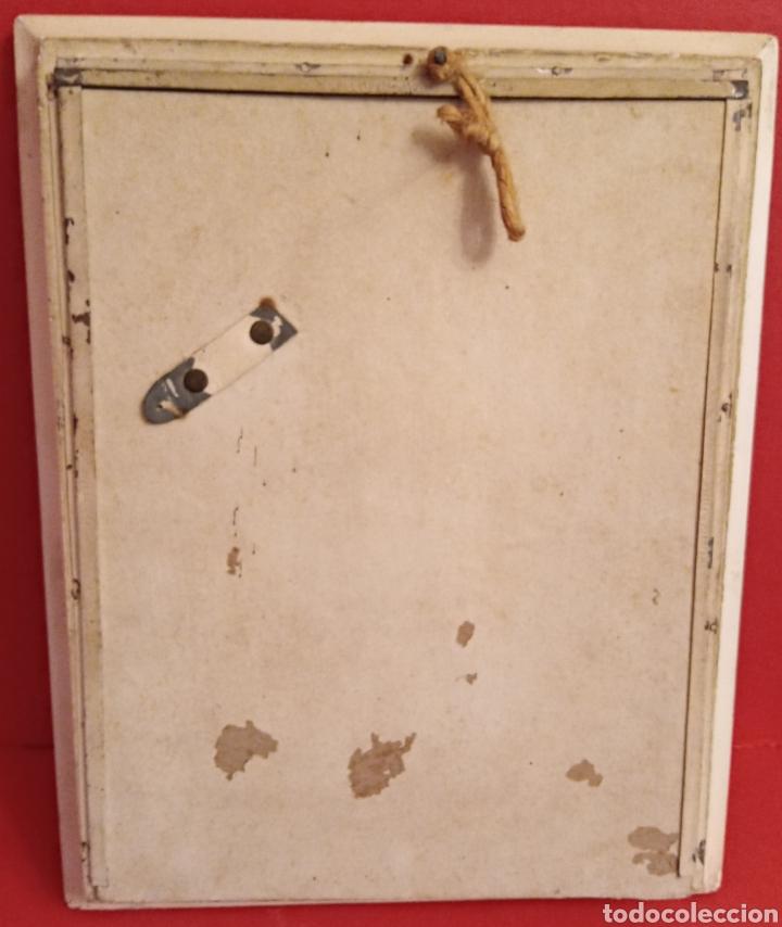 Arte: VIRGEN DEL PERPETUO SOCORRO - AÑOS 1940 - MARCO DE EPOCA - BELLISIMA - Foto 10 - 206507918