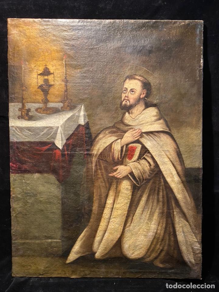 SANTO MERCEDARIO CALZADO, ÓLEO SOBRE LIENZO. (Arte - Arte Religioso - Pintura Religiosa - Oleo)