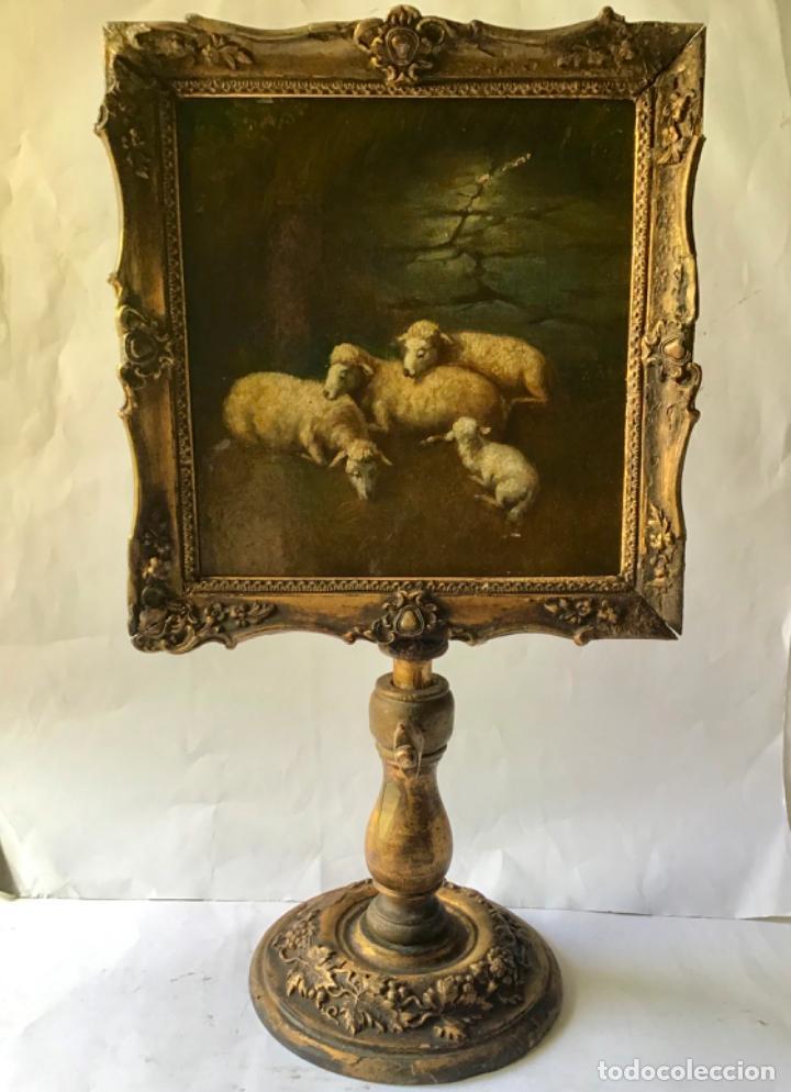 PRECIOSO Y ANTIGUO RETABLO-RELICARIO DEL SIGLO 19 , PINTADO ORIGINAL Y MADERA TALLADA -SANTA FAZ (Arte - Arte Religioso - Pintura Religiosa - Oleo)