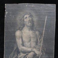 Arte: GRABADO ANTIGUO AFTER PIERRE MIGNARD (1612-1695), CRTISTO CON LA CORONA DE ESPINAS. Lote 206750427