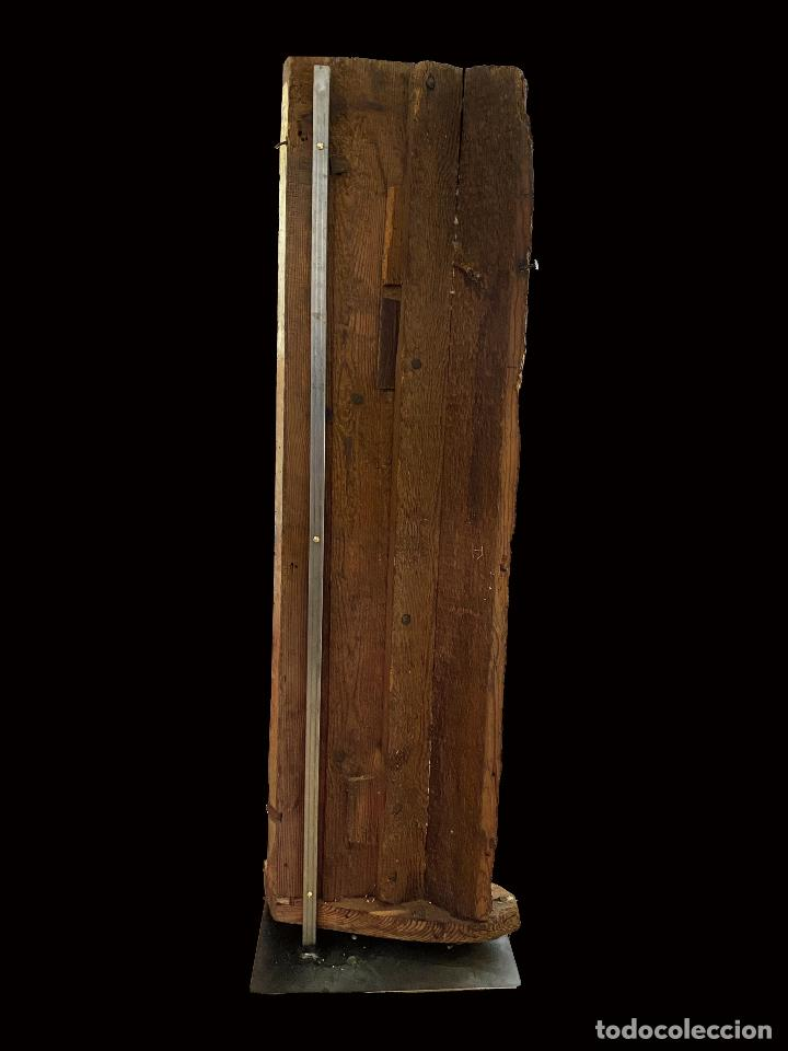 Arte: Espectacular pieza de retablo barroco al oro fino sobre peana de hierro.Siglo XVIII - Foto 4 - 206789828