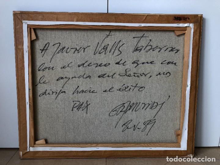 Arte: 1/2 PINTURA RELIGIOSA: ABSTRACCIÓN - EXPRESIONISMO firmada por Gamundi en 1989 - Foto 2 - 206812605