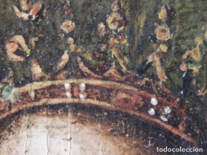 Arte: Virgen con Niño. Escuela Flamenca. Óleo sobre tabla del siglo XVI. - Foto 11 - 206832823