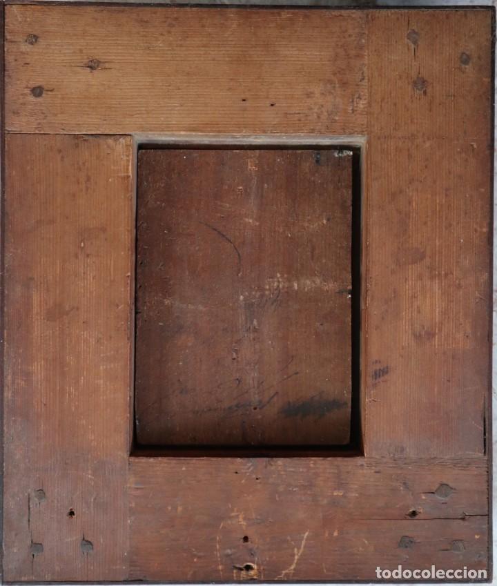Arte: Virgen con Niño. Escuela Flamenca. Óleo sobre tabla del siglo XVI. - Foto 15 - 206832823