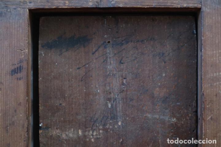 Arte: Virgen con Niño. Escuela Flamenca. Óleo sobre tabla del siglo XVI. - Foto 19 - 206832823