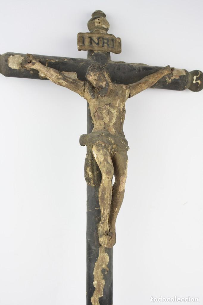 Arte: Cristo crucificado de madera. Ver fotos. 62x32cm - Foto 2 - 206873011