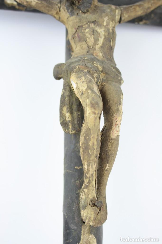 Arte: Cristo crucificado de madera. Ver fotos. 62x32cm - Foto 4 - 206873011