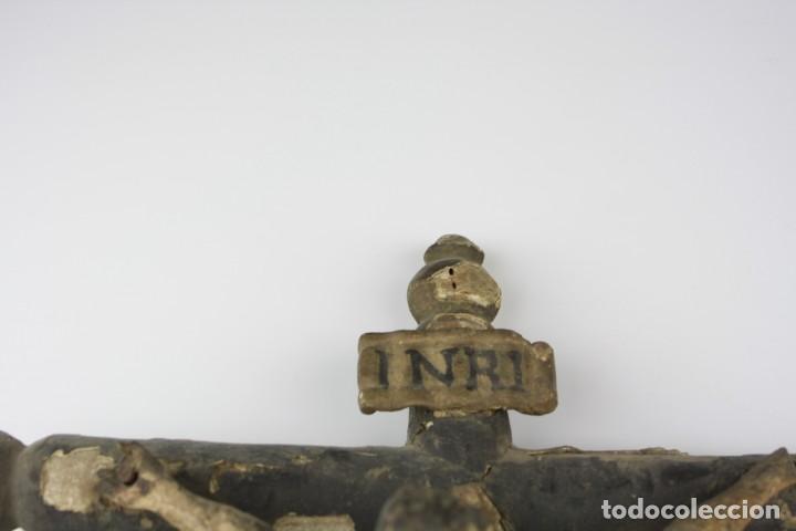 Arte: Cristo crucificado de madera. Ver fotos. 62x32cm - Foto 8 - 206873011