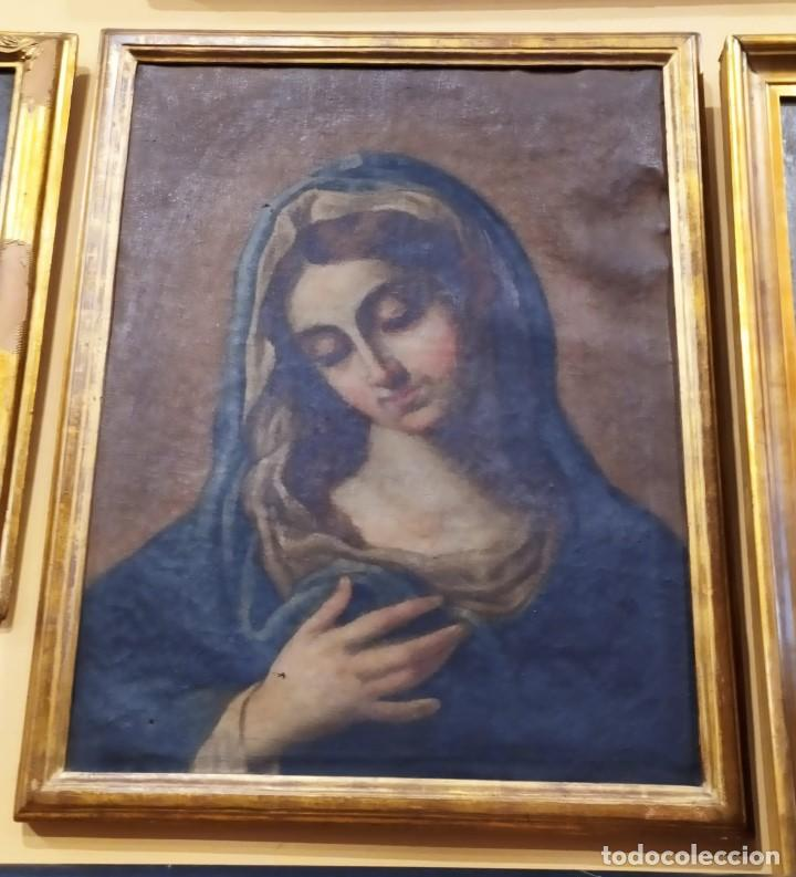 CUADRO DE LA IMACULADA ENTRE XVII O XVIII 58X45 (Arte - Arte Religioso - Pintura Religiosa - Oleo)