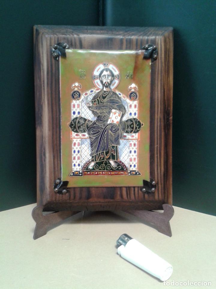 ICONO. PANTOCRATOR EN ESMALTE AL FUEGO. (Arte - Arte Religioso - Iconos)