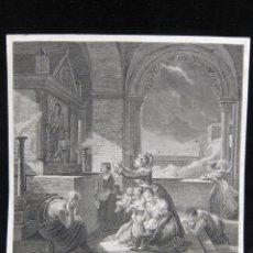Arte: GRABADO FRANCES, PIÈRE À UNE MADONE DE M. HAUNDEBOURT LESCOT. Lote 206973122