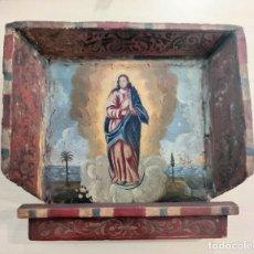 Arte: PINTURA MALLORQUINA RELIGIOSA INMACULADA S. XVII OLEO SOBRE LIENZO. Lote 206977536