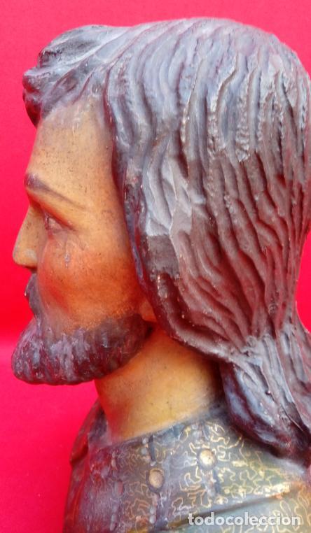 Arte: TALLA MADERA BUSTO DE SAN JOSÉ, DE ESCUELA ESPAÑOLA S. XVII. 21.5 CMS DE ALTURA. - Foto 7 - 206981968