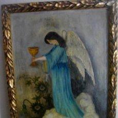 Arte: PINTURA BARROCA ( ANGEL CON CALIZ) FIRMADA¿¿¿ ( 73 X 50 CTMS )) CON MARCO CALIDAD. Lote 207005648