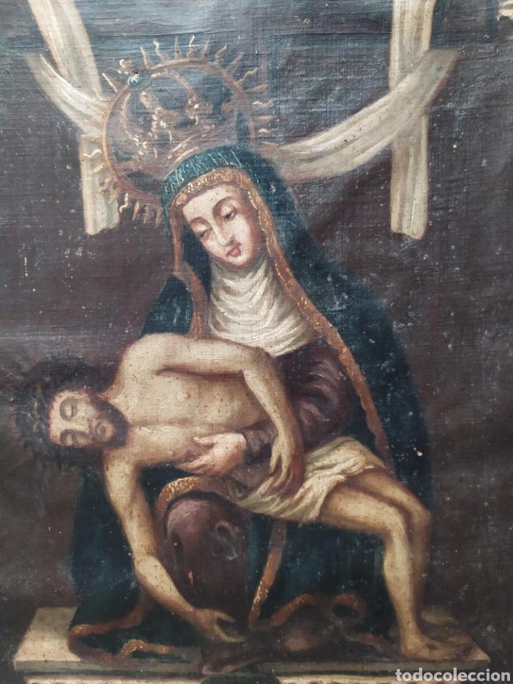 PIEDAD ÓLEO SOBRE LIENZO SIGLO XVIII XIX (Arte - Arte Religioso - Pintura Religiosa - Oleo)