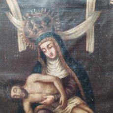Arte: PIEDAD ÓLEO SOBRE LIENZO SIGLO XVIII XIX. Lote 207034007