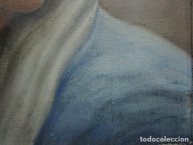 Arte: ANTIGUA PINTURA VIRGEN OLEO EN LIENZO CIRCULO DE GASTON CASTELLO ? ALICANTE - Foto 37 - 140466186