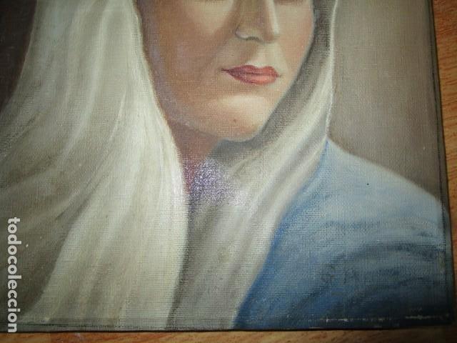 Arte: ANTIGUA PINTURA VIRGEN OLEO EN LIENZO CIRCULO DE GASTON CASTELLO ? ALICANTE - Foto 38 - 140466186