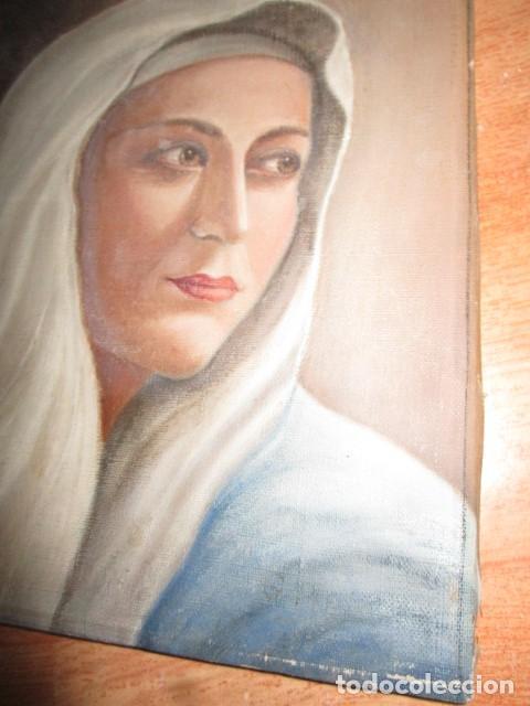 Arte: ANTIGUA PINTURA VIRGEN OLEO EN LIENZO CIRCULO DE GASTON CASTELLO ? ALICANTE - Foto 39 - 140466186