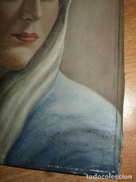 Arte: ANTIGUA PINTURA VIRGEN OLEO EN LIENZO CIRCULO DE GASTON CASTELLO ? ALICANTE - Foto 7 - 140466186
