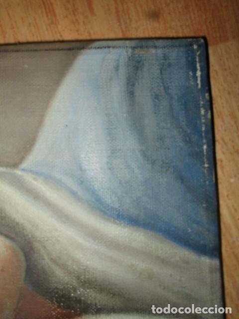 Arte: ANTIGUA PINTURA VIRGEN OLEO EN LIENZO CIRCULO DE GASTON CASTELLO ? ALICANTE - Foto 42 - 140466186