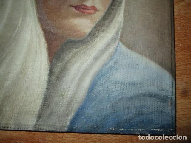 Arte: ANTIGUA PINTURA VIRGEN OLEO EN LIENZO CIRCULO DE GASTON CASTELLO ? ALICANTE - Foto 44 - 140466186