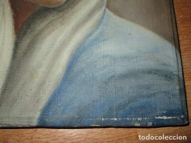 Arte: ANTIGUA PINTURA VIRGEN OLEO EN LIENZO CIRCULO DE GASTON CASTELLO ? ALICANTE - Foto 46 - 140466186
