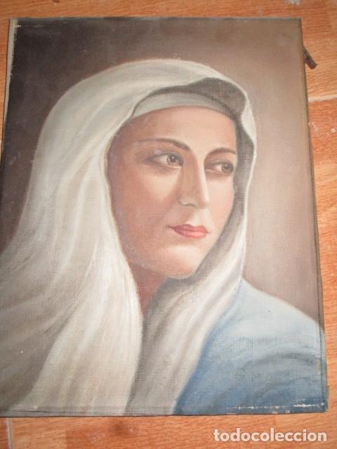 Arte: ANTIGUA PINTURA VIRGEN OLEO EN LIENZO CIRCULO DE GASTON CASTELLO ? ALICANTE - Foto 49 - 140466186