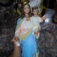 Arte: IMAGEN RELIGIOSA DE SANTA ELENA HECHO EN PASTA DE MADERA DE MEDIADOS DEL SIGLO XX. Lote 207122516