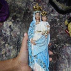 Arte: IMAGEN RELIGIOSA DE VIRGEN HECHO EN PASTA DE MADERA DE MEDIADOS DEL SIGLO XX. Lote 207123037