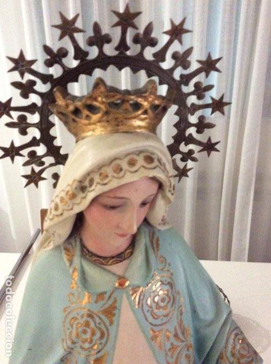 Arte: Imagen de la Virgen Milagrosa siglo XIX o anterior. Bellísimas facciones. Ojos de cristal - Foto 2 - 206811777