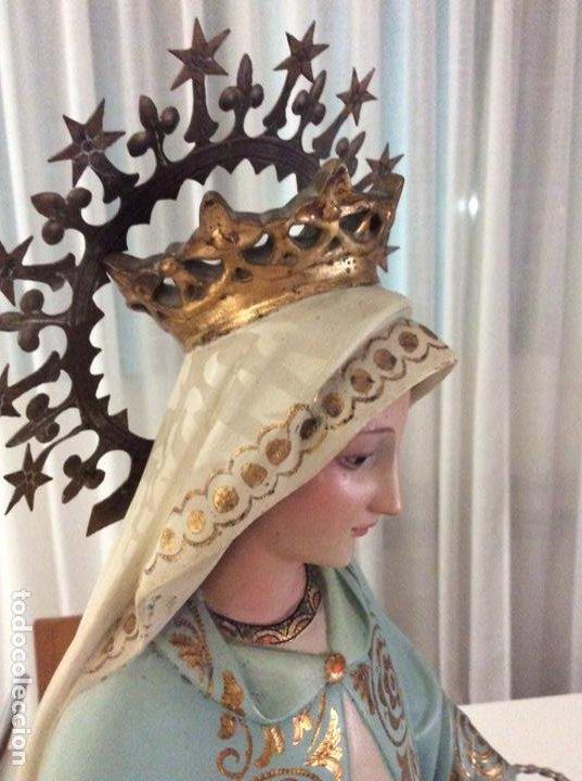 Arte: Imagen de la Virgen Milagrosa siglo XIX o anterior. Bellísimas facciones. Ojos de cristal - Foto 3 - 206811777