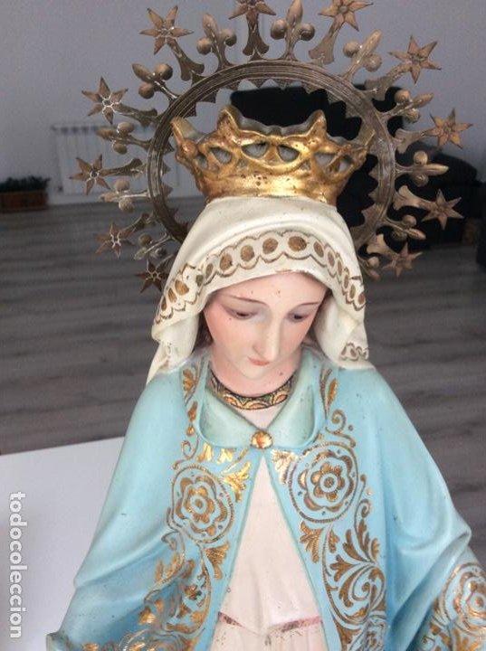 Arte: Imagen de la Virgen Milagrosa siglo XIX o anterior. Bellísimas facciones. Ojos de cristal - Foto 7 - 206811777