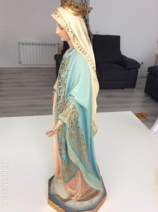 Arte: Imagen de la Virgen Milagrosa siglo XIX o anterior. Bellísimas facciones. Ojos de cristal - Foto 10 - 206811777