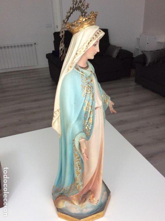 Arte: Imagen de la Virgen Milagrosa siglo XIX o anterior. Bellísimas facciones. Ojos de cristal - Foto 13 - 206811777