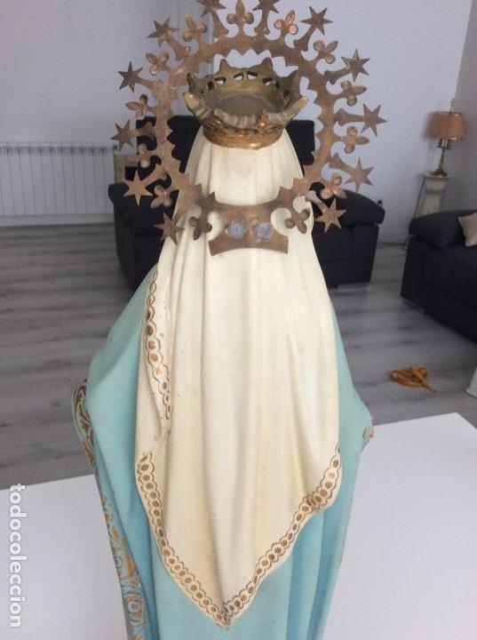 Arte: Imagen de la Virgen Milagrosa siglo XIX o anterior. Bellísimas facciones. Ojos de cristal - Foto 17 - 206811777