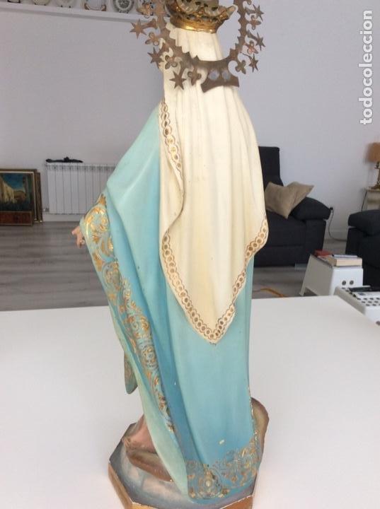 Arte: Imagen de la Virgen Milagrosa siglo XIX o anterior. Bellísimas facciones. Ojos de cristal - Foto 19 - 206811777