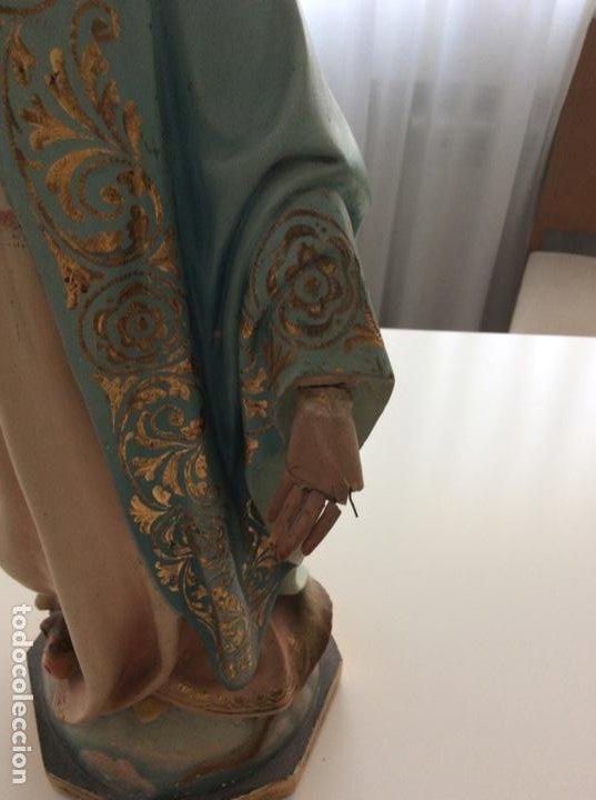 Arte: Imagen de la Virgen Milagrosa siglo XIX o anterior. Bellísimas facciones. Ojos de cristal - Foto 24 - 206811777